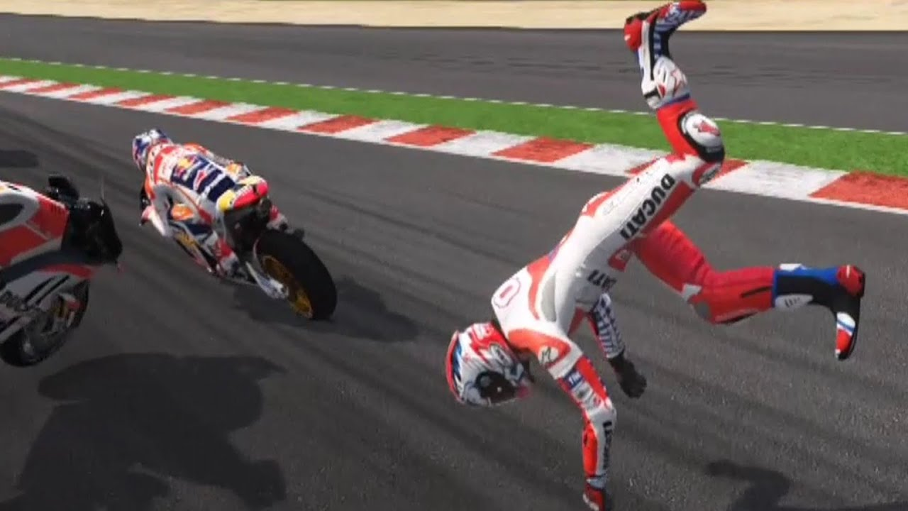 Valentino Rossi The Game - MotoGP 16 - Crash Compilation (PS4 HD) [1080p60FPS] - YouTube
