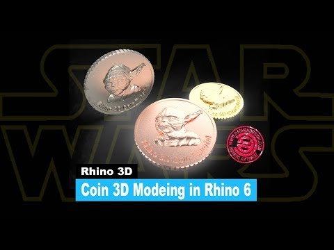 Coin 3D Model Tutorial in Rhino 6 (2018)- Jewelry CAD Design #27