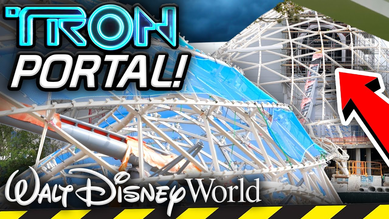 TRON Coaster GRID PORTAL Installed at Walt Disney World! - Disney Vlog