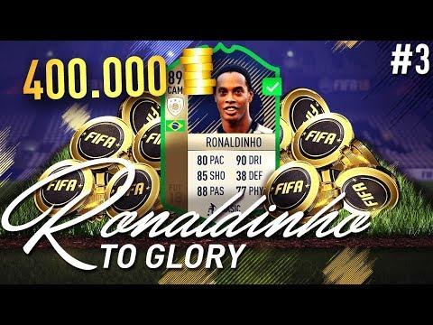 OMG 89 ICON RONALDINHO FOR 400K COINS?!?!?! - RONALDINHO TO GLORY #3 - FIFA 18 Ultimate Team