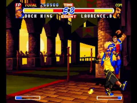 Real Bout Fatal Fury 2: The Newcomers (Arcade) Playthrough as Duck King |