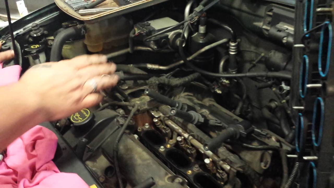 2004 ford escape coil pack test testing the rear ones with intake removed youtube