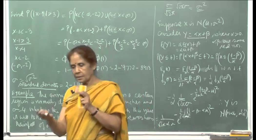 Mod-01 Lec-09 Continuous random variables and their distributions.