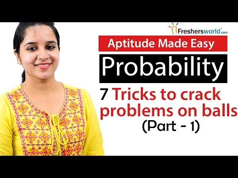 Aptitude Made Easy - Probability – 7 Tricks to solve problems on