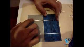"KIT 210W solar DIY for sale composed by 108 polycrystalline solar cells 3""X6"" inches (76X156 mm) A-Grade and soldering equipment Video"