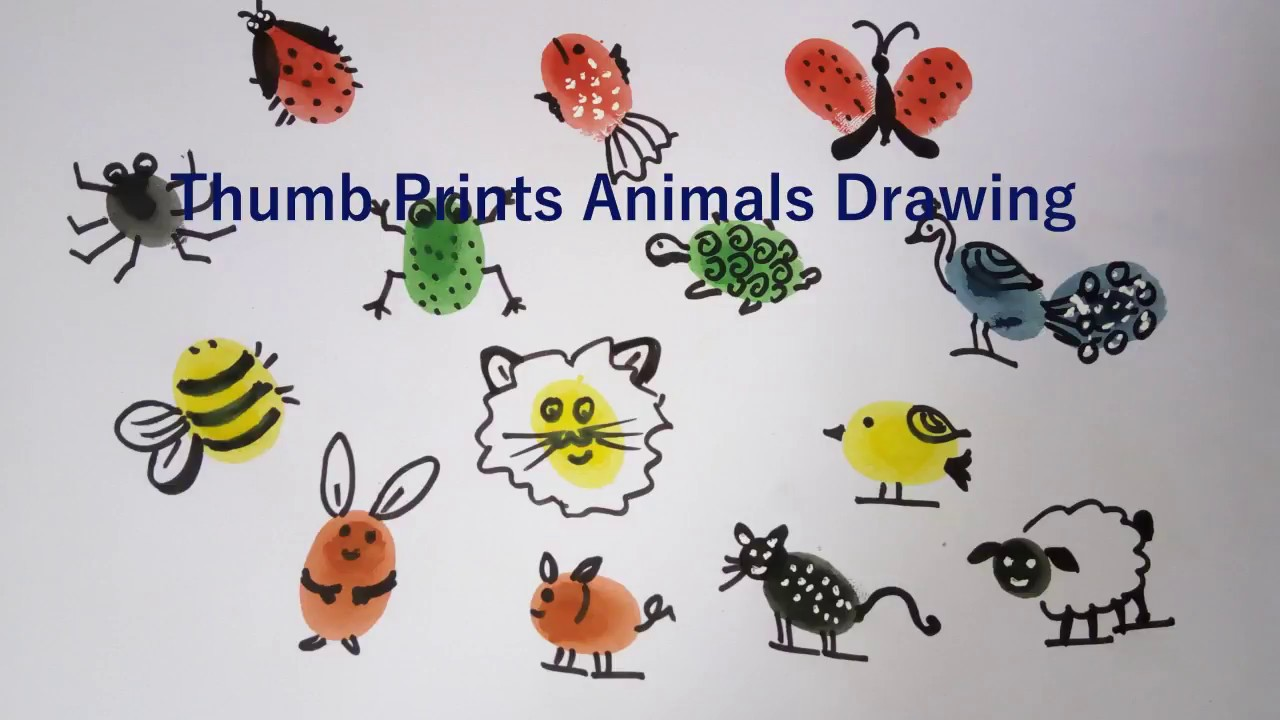 14 cool thumb painting animals drawing hacks world animal day finger painting tutorial youtube 14 cool thumb painting animals drawing hacks world animal day finger painting tutorial