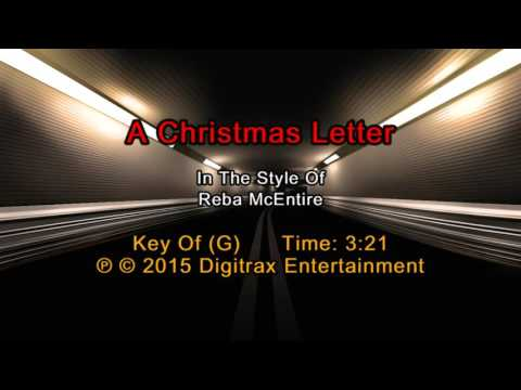 Reba McEntire  A Christmas Letter Backing Track