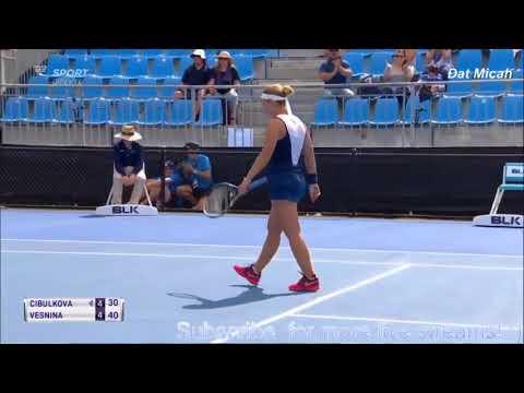 Sydney 2018 - Dominika Cibulkova Vs Elena Vesnina - Full Highlights