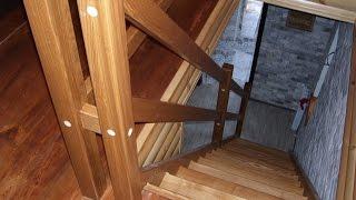 Часть 10 (последняя) - установка одномаршевой деревянной лестницы(Крепление лестницы к перекрытию и монтаж ограждения. мой сайт: http://woodestet.com/ Страницы форума: деревянные..., 2016-08-02T09:06:36.000Z)