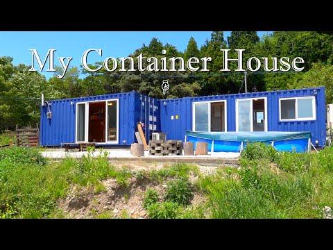 ぼくの青いコンテナハウス My container home house トレーラーハウス trailer house