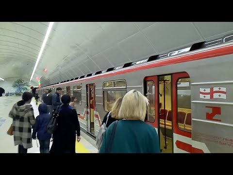 Tbilisi, Georgia new metro station University. Тбилиси, новая станция метрополитена ,,Университет""