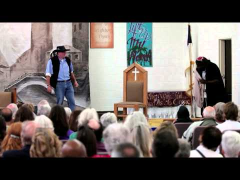 """William Shakespeare's """"Merchant of Venice"""" performed by inmates at San Quentin State Prison."""