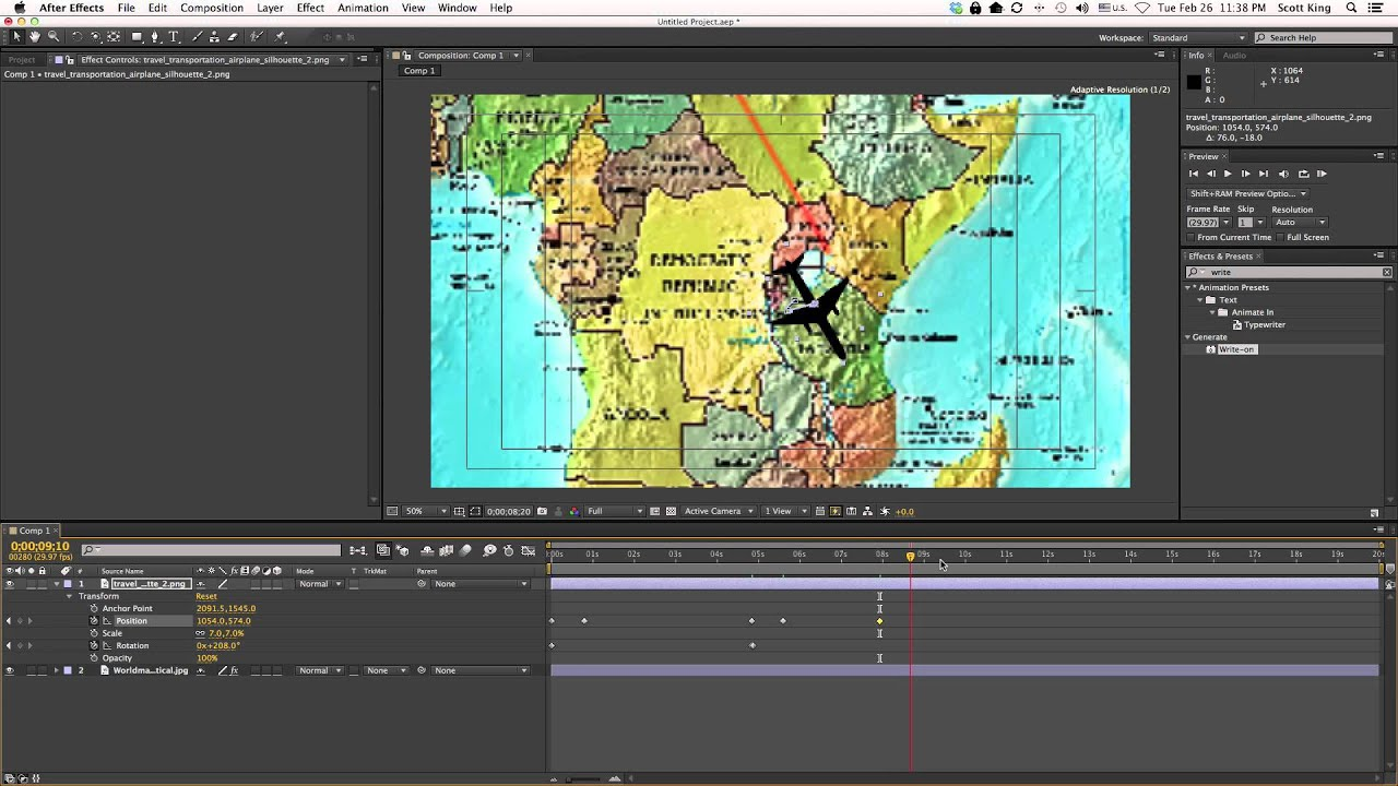 After Effects Making a 3D Travel Map YouTube – Travel Map Software