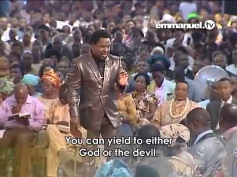 You are a free moral agent, it means that you can eithe yield to God or the devil - Tb Joshua