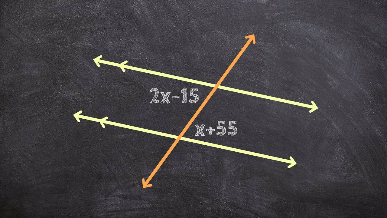 Geometry Using Alternate Interior Angles To Solve For X  Free Math Help   Math Tutor