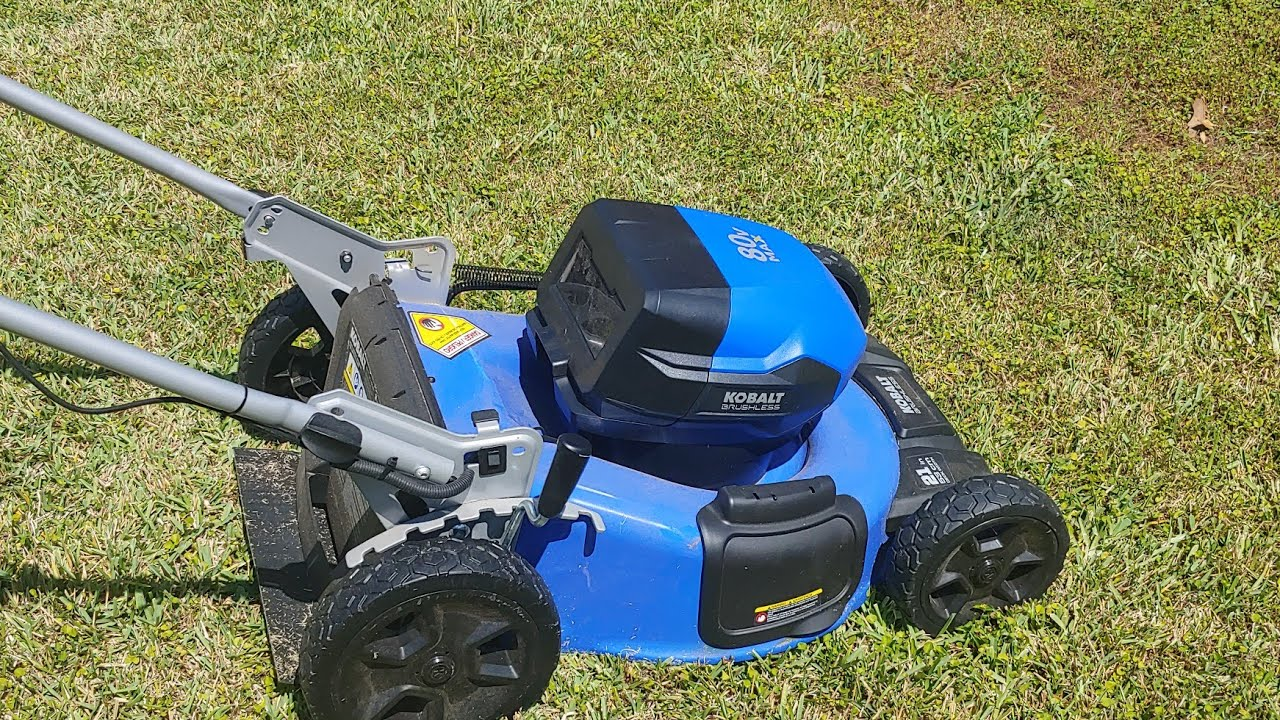 Kobalt Mower Battery Operated Lithium Ion 80v Review Youtube