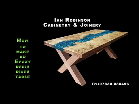 Amazing Epoxy Resin and Wood River Table ! - how I made my resin table start to finish