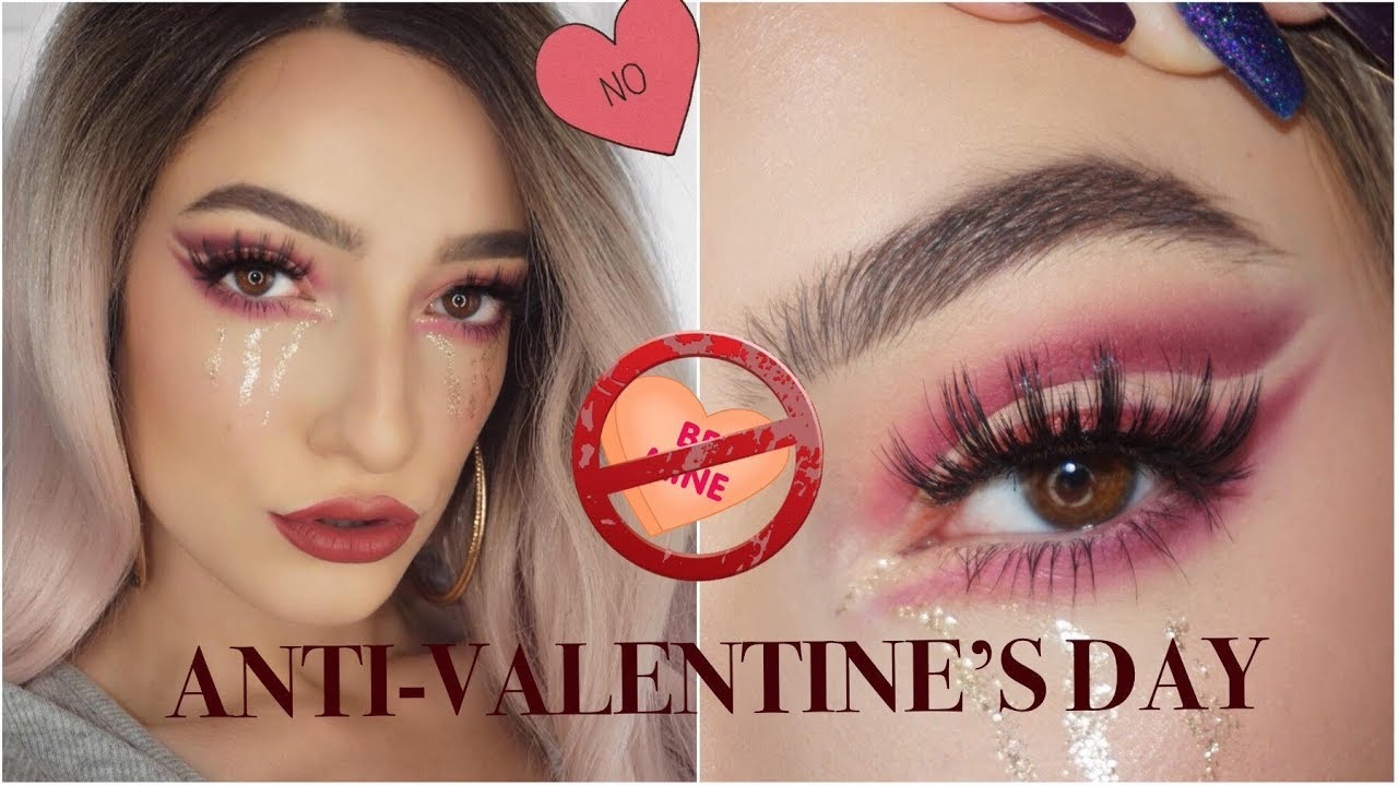 Anti Valentine S Day Makeup Tutorial Youtube