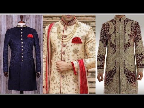 Indian Wedding Sherwani Design For Men's 2019 || Most Beautiful Sherwani Design For Men's