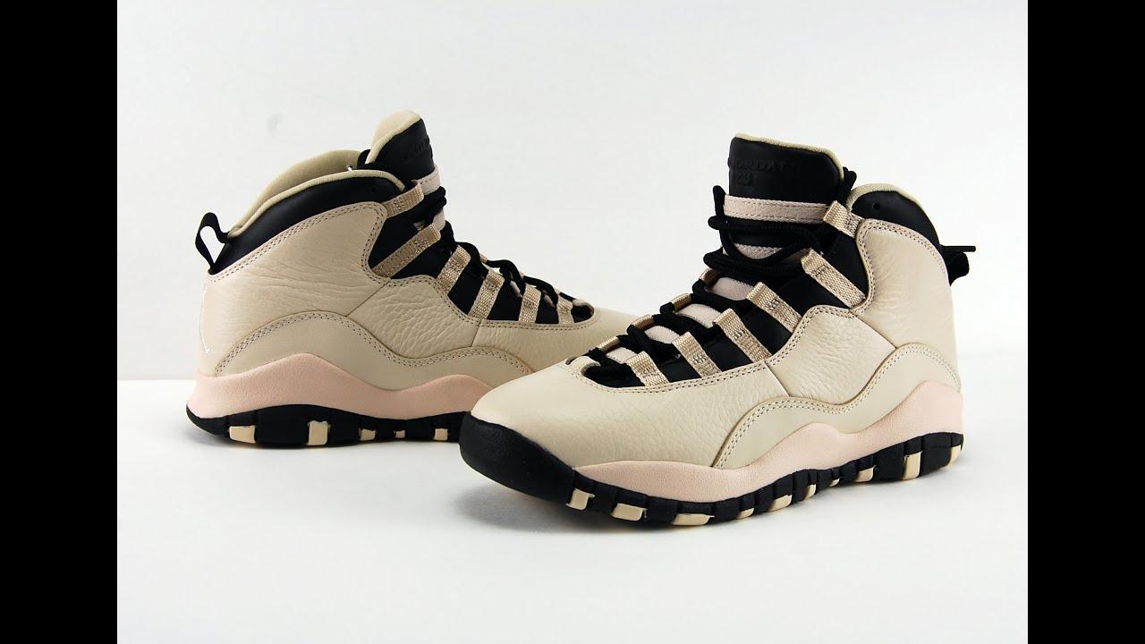 air jordan 10 gs heiress pearl white black on feet youtube rh youtube com
