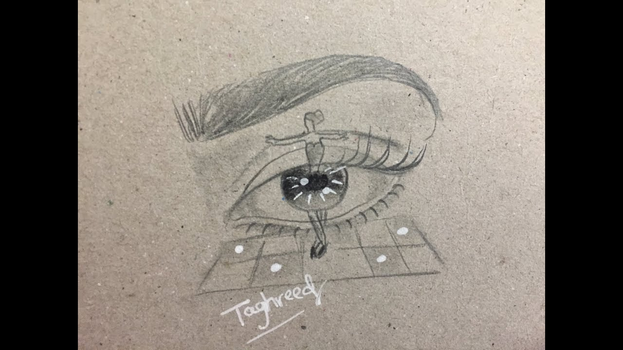 How To Draw An Abstract Eye For Beginners Easy Drawing