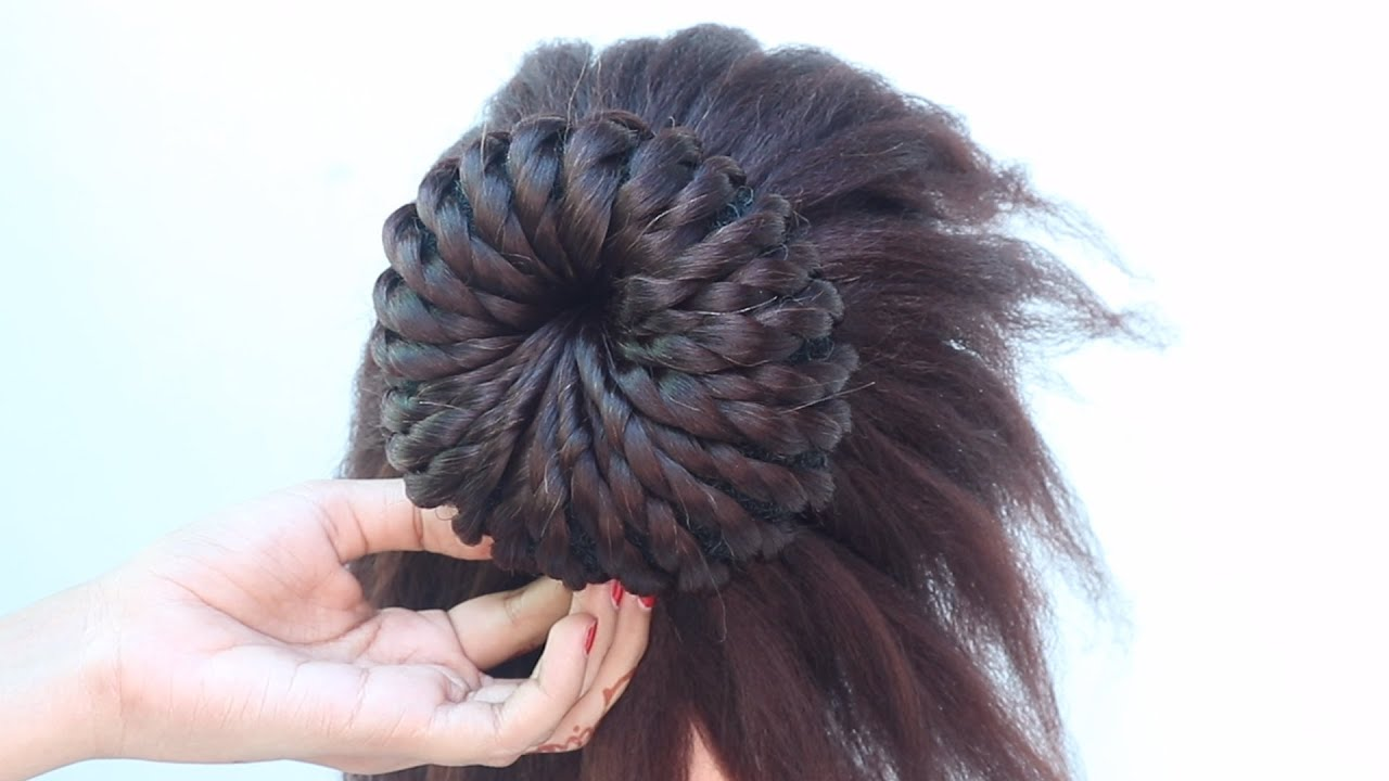 9 different juda hairstyle for ladies || easy hairstyle || hair style girl || hairstyle for ...