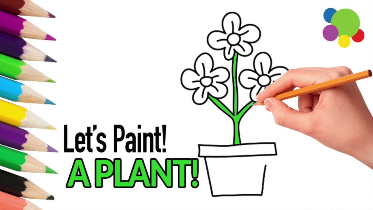 how to give colors to a plant coloring pages for kids learning