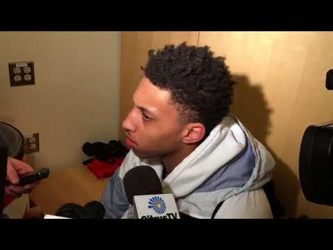 Matthew Moyer discusses his big game for Syracuse basketball vs. Connecticut
