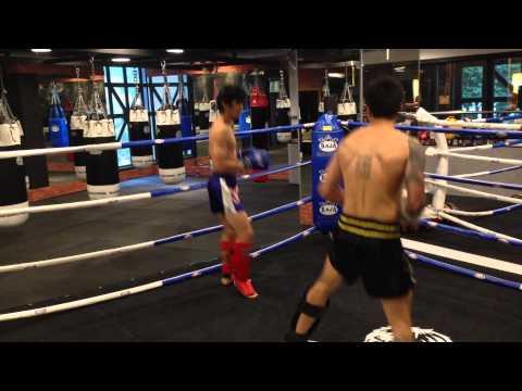 Jun he & Zhenyu sparring part 2.