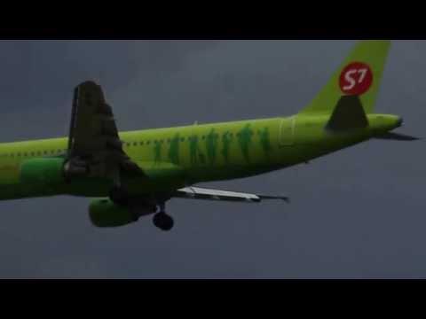 Толмачево#S7# А-320#Сильный ветер#Посадка#Новосибирск#