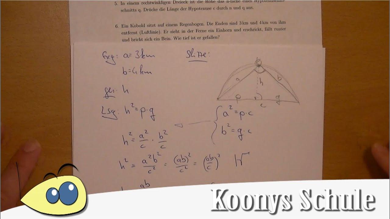 Aufgabe 6 - Satz des Thales, Regenbogen, Kobold - Arbeitsblatt 0045 ...
