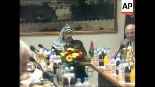 Gaza/West Bank - Cabinet discussions & demos