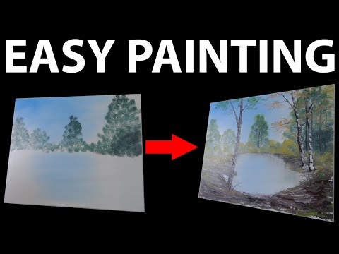 How to paint a landscape | Walk into the wood – Oil painting beginner