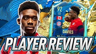 BEST LB IN THE GAME?! 🤔 92 TOTSSF DAVIES PLAYER REVIEW! - FIFA 20 Ultimate Team
