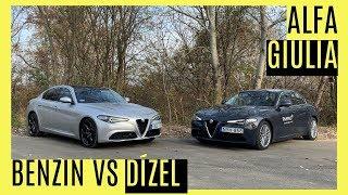 Alfa Giulia benzin vs dízel teszt
