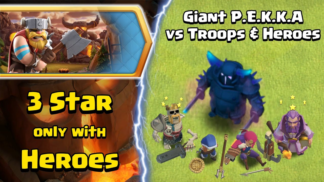 New Giant PEKKA vs All Heroes and Troops   Easy INFERNO TOWN Challenge   Clash of Clans