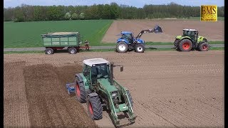 Kartoffeln pflanzen - Fendt 310 Grimme GL34 - New Holland - Claas Axion - Potato planting germany