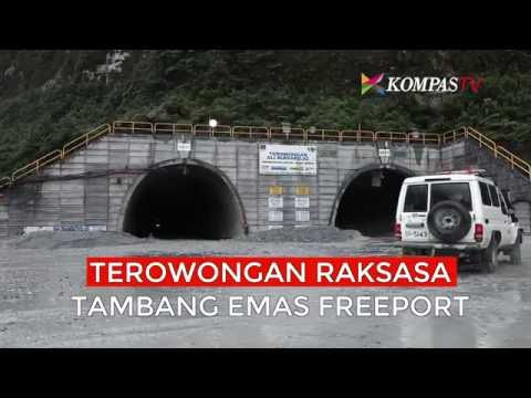 Terowongan Raksasa Tambang Emas Freeport