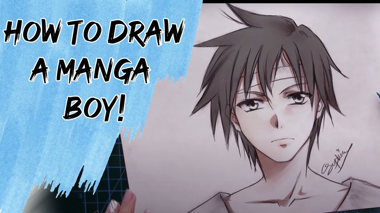 How to draw a manga male head