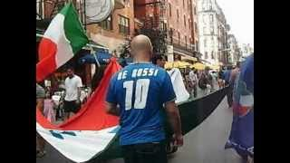 Little Italy post-game Italy vs Spain in NYC - Mulberry Street - July 01, 2012