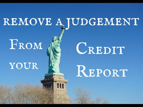 how to remove public records from my credit report
