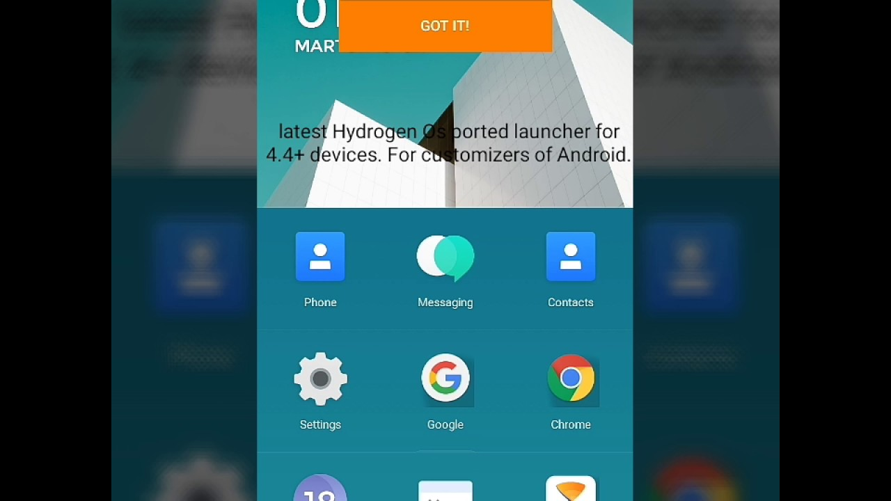 Hydrogen os ported launcher for Android device ,no root required