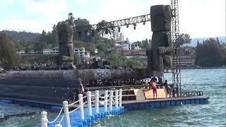 Suasana Panggung Apung Karnaval Kemerdekaan Pesona Danau Toba Sebelum Presiden Jokowi Datang