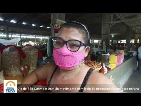 Dia de São Cosme e Damião movimenta comércio de produtos típicos do caruru