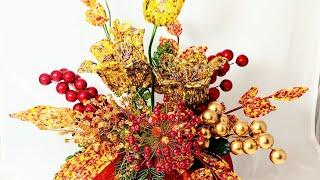 Краски Осени - моя новая Композиция из бисера в тыкве