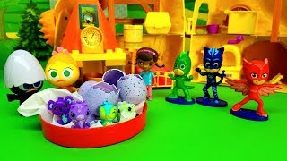 PJ MASKS SUPER PIGIAMINI AIUTANO CALIMERO  - Uova hatchimals , cuccioli di animali , nuovo Episodio