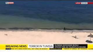 Tunisia Attack: Footage Of Gunman On Beach