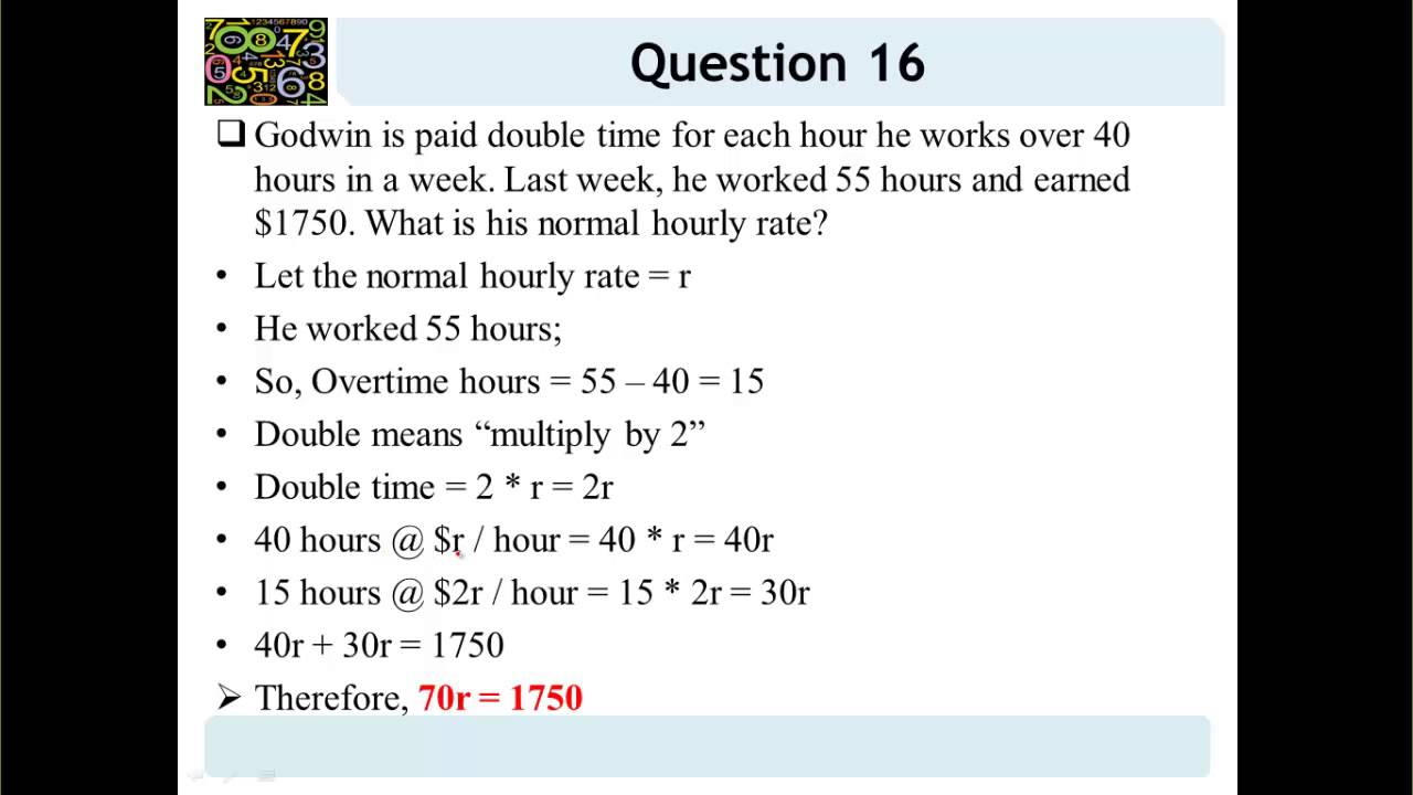 how to right get equation for word problem