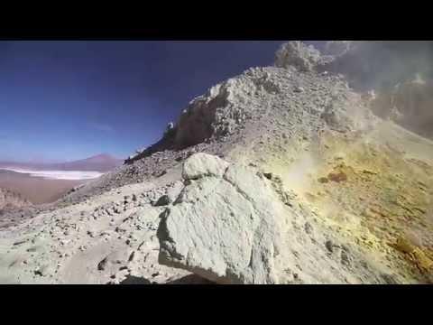 IIrruputuncu volcano mountain peak (5163m) - Bolivia (2015)