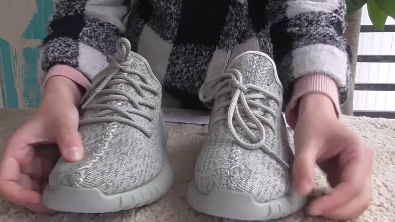 777e907140440 Real VS fake! Adidas Yeezy 350 Boost Moonrock Details Comparison ...